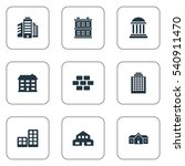 set of 9 simple architecture... | Shutterstock .eps vector #540911470