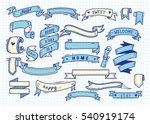 set of banner doodle on paper... | Shutterstock .eps vector #540919174