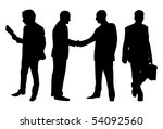 business peoples isolated in... | Shutterstock .eps vector #54092560