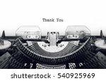 vintage typewriter on white... | Shutterstock . vector #540925969