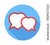 two hearts speech bubble. flat... | Shutterstock .eps vector #540927310