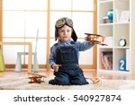 child boy pretending to be... | Shutterstock . vector #540927874