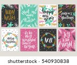 set of christmas greeting card  ... | Shutterstock .eps vector #540930838