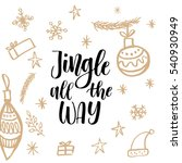 christmas greeting card ... | Shutterstock .eps vector #540930949