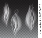 white smoke waves on... | Shutterstock . vector #540936010