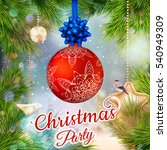 holiday merry christmas party... | Shutterstock .eps vector #540949309