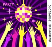 a crowd of people dancing in a... | Shutterstock .eps vector #540951040