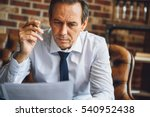 concentrated male person... | Shutterstock . vector #540952438