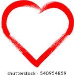 set of hearts . grunge stamps... | Shutterstock .eps vector #540954859