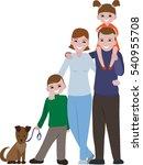 happy family portrait. family... | Shutterstock .eps vector #540955708