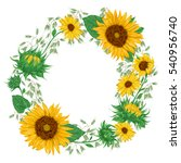 Wreath With Sunflowers And Oat...