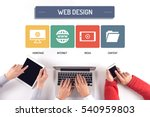 business team working on web... | Shutterstock . vector #540959803
