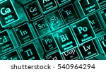 3d render abstract chemical... | Shutterstock . vector #540964294