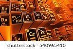 3d render abstract chemical... | Shutterstock . vector #540965410