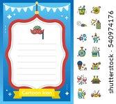 icon set party vector   Shutterstock .eps vector #540974176