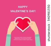 two hands making heart sign.... | Shutterstock .eps vector #540981550