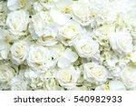 Stock photo white roses background 540982933