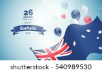 26 january. australia day... | Shutterstock .eps vector #540989530