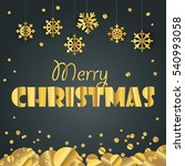 christmas greeting card.... | Shutterstock .eps vector #540993058