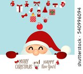 christmas greeting card with... | Shutterstock .eps vector #540996094