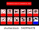 prohibited sign at public... | Shutterstock .eps vector #540996478