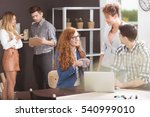 team of young people working at ... | Shutterstock . vector #540999010