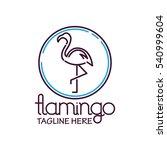 flamingo logo | Shutterstock .eps vector #540999604