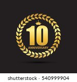 template logo 10 years... | Shutterstock .eps vector #540999904