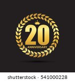 template logo 20 years... | Shutterstock .eps vector #541000228
