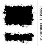 two different ink splat banners ... | Shutterstock .eps vector #54100024