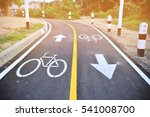 asphalt road with cycle track... | Shutterstock . vector #541008700