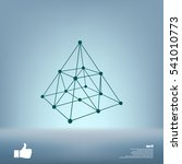 wire frame shape. pyramid with... | Shutterstock .eps vector #541010773