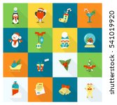 christmas and winter icons... | Shutterstock .eps vector #541019920