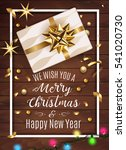 white gift box with a beautiful ... | Shutterstock .eps vector #541020730