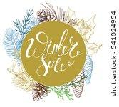 winter sale vector vintage... | Shutterstock .eps vector #541024954