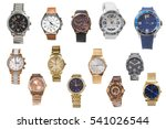 set of of wristwatches isolated ...