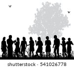 silhouettes of a crowd of... | Shutterstock .eps vector #541026778