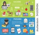 cyber crime horizontal banners... | Shutterstock .eps vector #541029454