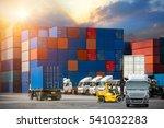 industrial container cargo... | Shutterstock . vector #541032283