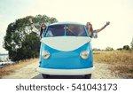 summer holidays  road trip ... | Shutterstock . vector #541043173