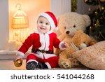 Funny Baby Boy Weared In Santa...