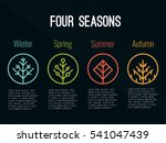 4 seasons tree icon sign in... | Shutterstock .eps vector #541047439