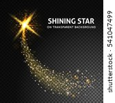 shining star on dark... | Shutterstock .eps vector #541047499