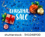 christmas sale template with... | Shutterstock .eps vector #541048930