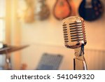 vintage silver microphone image ... | Shutterstock . vector #541049320