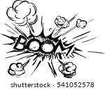 comics explosion | Shutterstock .eps vector #541052578