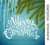 merry christmas card with... | Shutterstock . vector #541052803