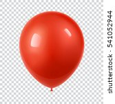 3d realistic colorful balloon.... | Shutterstock .eps vector #541052944