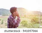 young hipster bearded man... | Shutterstock . vector #541057066