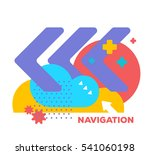 vector illustration of bright... | Shutterstock .eps vector #541060198